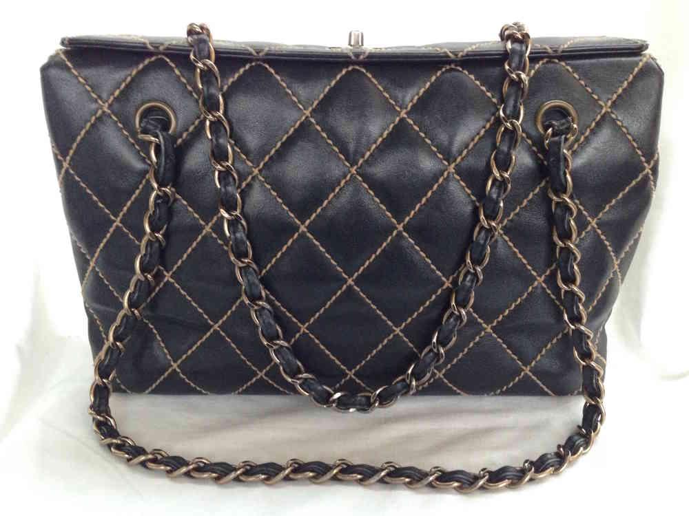 4abdb25050a Chanel wild stitch bag black - www.chanelvintage.net