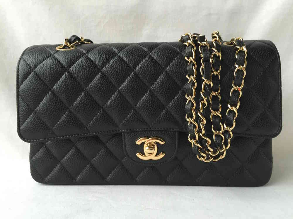 49aacfb73c38a6 Chanel classic 2.55 flap bag caviar gold hardware BRANDNEW - www ...