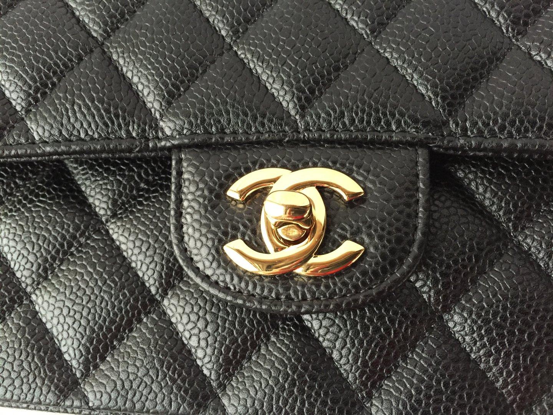0f3ec0a39eff Chanel classic 2.55 flap bag caviar gold hardware BRANDNEW - www ...