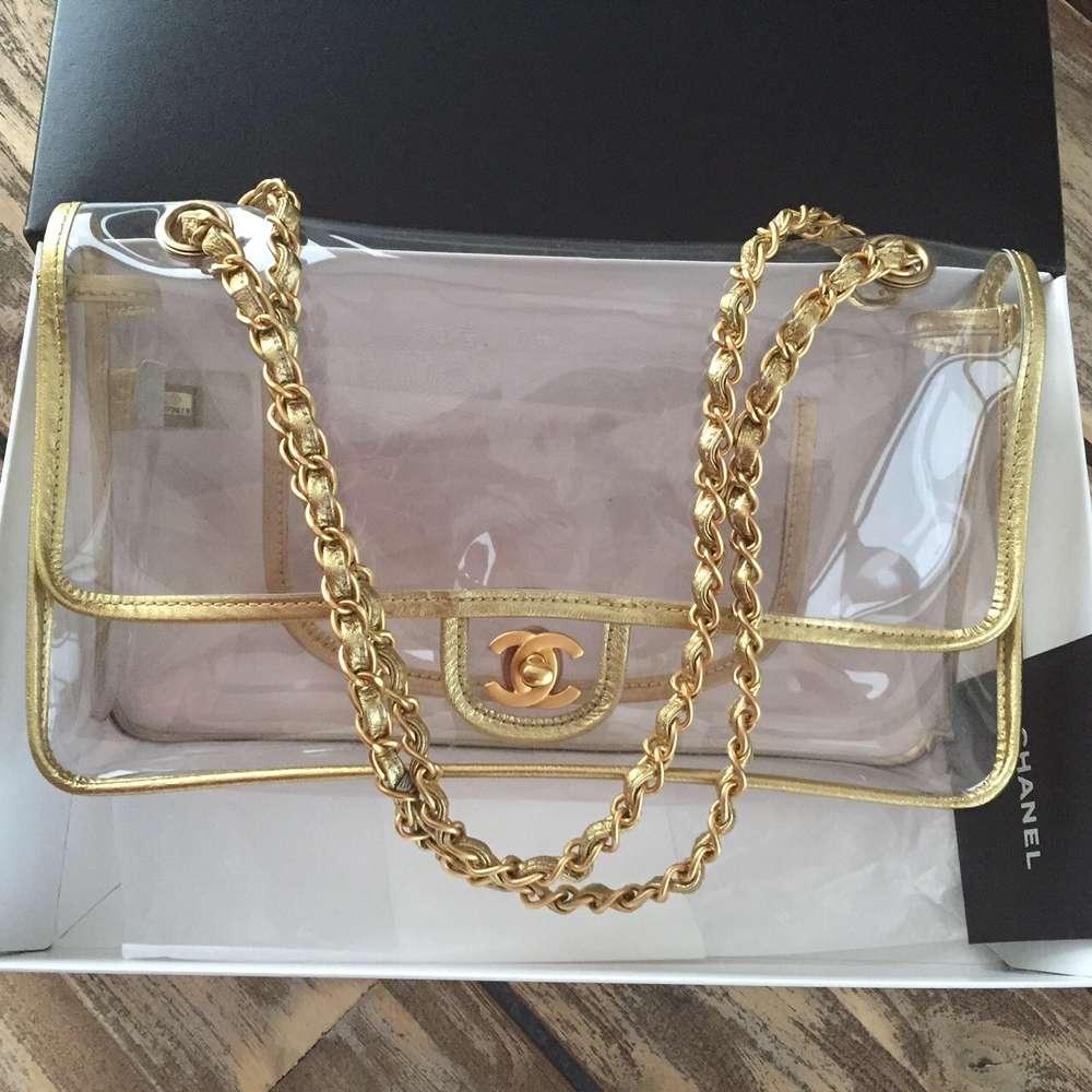 cad882812d81 Chanel transparent 2.55 classic flap bag - www.chanelvintage.net