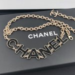 Chanel belt with rhinestone embellished letters