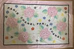 Chanel beach towel pastel colors