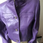 Chanel purple violet lilac leather jacket