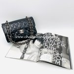 Chanel timeless small patent black silver hardware