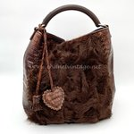 Christian Dior ethnic hobo bag brown