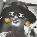 Chanel Vintage logo earrings clips